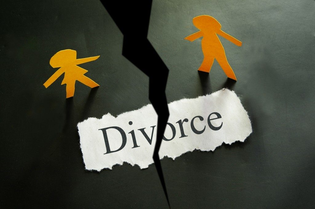 couple torn apart by divorce